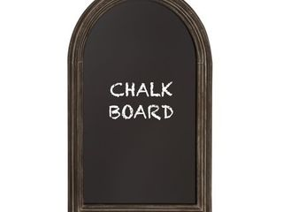 Gracewood Hollow Apess Curved Top Chalkboard with Black Framing