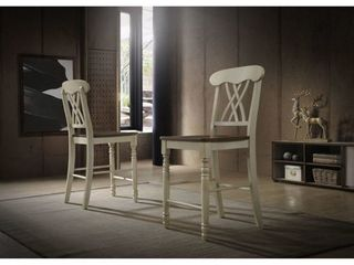 Country style Counter height Chairs  Set of 2  Retail 127 49