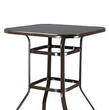 39  Wrought Iron Glass High Bar Table Patio Bar Table  Retail 103 99