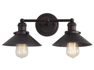 July 17 5  2 light Metal Vanity light  Oil Rubbed Bronze by JONATHAN Y