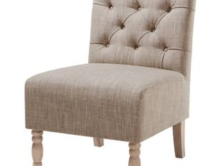 Madison Park lina Tufted Armless Chair  Retail 167 99