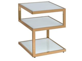 Acme Furniture Alyea Glass Metal End Table  Retail 94 49