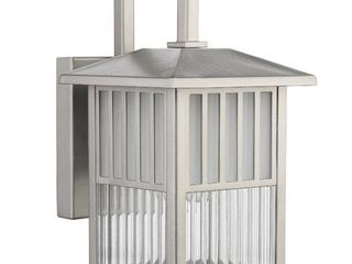 Chloe lighting CH22025PN11 OD1 Transitional Frisco  Transitional 1 light Painted Nickel Outdoor Wall Sconce  10 75 Inch