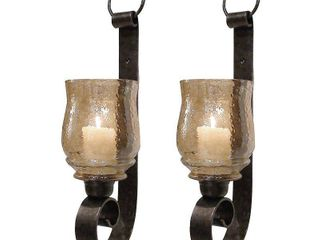 Uttermost Joselyn Antiqued Bronze Small Wall Sconces  Set of2  Retail 138 60