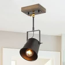 The Gray Barn Hickory Place Wood Ceiling Track lighting Spotlights 1 light Track lights  Retail 95 99