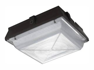 PROBRITE 50 Watt Integrated lED Bronze Security light and Area light  5200 lumens  Ceiling Canopy Outdoor Security lighting