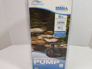 Total pond small waterfall pump 5ft height 1200 gallons per hour 16ft length cord