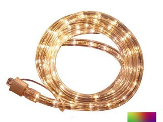 Commercial Electric Outdoor Indoor 16 ft  line Voltage  120 Volt  Red Green Blue White Flexible Integrated lED Rope light