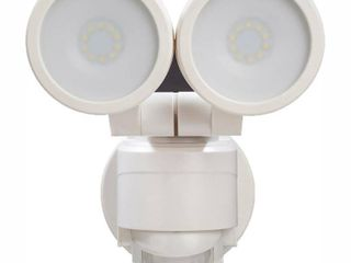 Defiant 180A White Motion Activated Outdoor Integrated lED Twin Head Flood light
