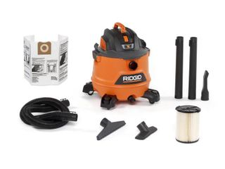 14 Gal  6 0 Peak HP NXT Wet Dry Shop Vacuum with Filter  Hose and Accessories  Oranges Peaches