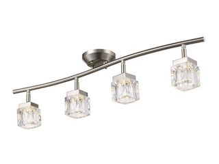 Monteaux lighting 31 5 in Glass and Brushed Nickel Integrated lED Track lighting Kit