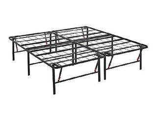 Amazonbasics Foldable Metal Platform Bed Frame  Black   King