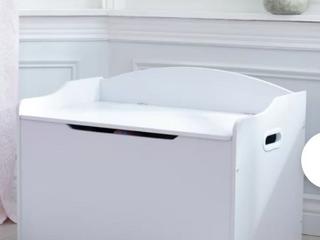 KidsKraft Toy Bench with Storage    White