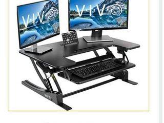 V I V  desk 36  black desk riser