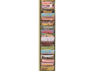 Durham 400 75 Tan Cold Rolled Steel 20 Contour Pocket Vertical literature Rack  9 3 4  Width x 58  Height x 4 1 8  Depth