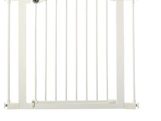 Toddleroo by North States Essential Walk Thru Baby Gate  29 8 38 1  Wide  White