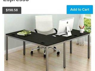 Shw Home Office 55 x60  large l Shaped Corner Desk Espresso