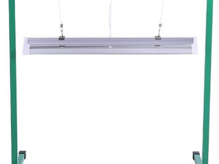 iPower GlT5XX2 24W 2 Feet T5 Fluorescent Grow light System with Stand Rack for Plant Seed Starting  frame is white