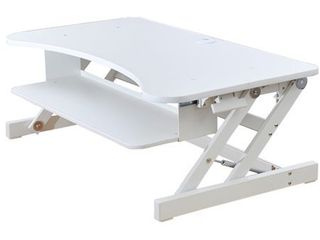 Deluxe Height Adjustable Sit to Stand Desk Computer Riser  White