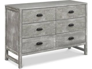 Not Inspected   DaVinci Fairway 6 Drawer Double Dresser   Cottage Gray