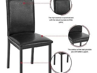Hooseng 4 faux leather metal chairs