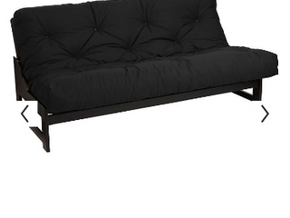 RSP 6  Boxed Suede Black Futon    Not Inspected