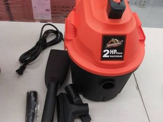 Armor All AA255  2 5 Gallon 2 Peak HP Wet Dry Utility Shop Vac DAMAGED