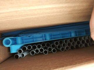 Adjustable Storage book shelf with 9 shelves  blue