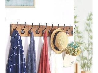 brown 10 hook coat hanger
