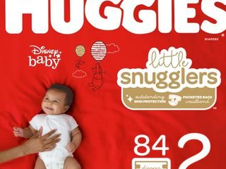 Huggies little Snugglers Diapers   Size 2  92ct