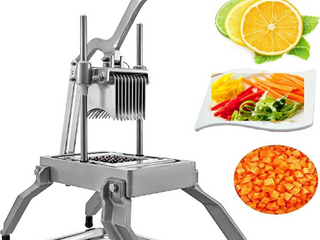 Commercial Vegetable Fruit Dicer 1 4  Blade Onion Cutter Heavy Duty Stainless Steel Removable and Replaceable Kattex Chopper Tomato Slicer  Sliver