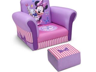 Disney Minnie Mouse Upholstered Chair with Ottoman   Delta Children