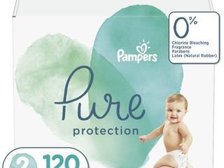 Pampers Pure Protection Diapers Size 2 120 Count