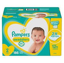 Pampers Swaddlers Disposable Diapers One Month Supply   Size 2  186ct