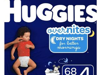 Huggies OverNites Diapers   Size 4  68ct