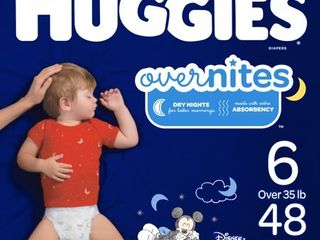 Huggies OverNites Diapers   Size 6  48ct