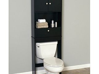 Zenith Products 9401CH Drop Door Space Saver with 2 Door Cabinet  Espresso