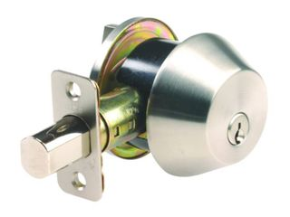Ace Adjustable Single Cylinder Deadbolt in Satin Stainless Steel