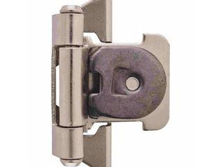 1 4 in  6 mm  Overlay Double Demountable Satin Nickel Hinge   2 Pack