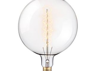 Globe Electric Oversized Round Vintage Edison 100W Clear Glass Dimmable Incandescent light Bulb  80128