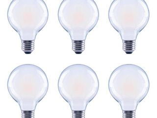 40 Watt Equivalent G25 Globe Frosted Glass Filament Dimmable lED light Bulb Soft White  6 Pack