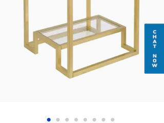 Athena Side Table in Gold Finish