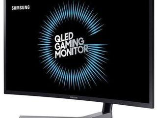 Samsung C32HG70 32  HDR QlED 144Hz 1ms Curved Gaming Monitor with Freesync  lC32HG70QQN  Dark Blue Black Matt