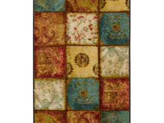 Townhouse Rugs Artifact Patchwork Area Rug  20 by 34 Inch