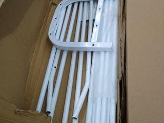 UDEAR Garment Rack Fr   layer 8 Hooks White
