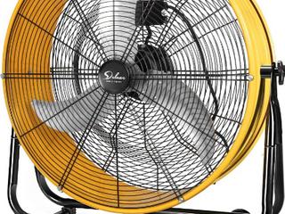 24  High Velocity Drum Fan    Yellow