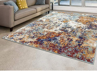 Persian Rugs 6490 Multi Colored Abstract Modern Area Rug Appr  5 3  x 7 2
