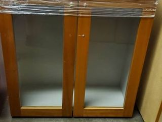Glass Wood Upper Cabinet
