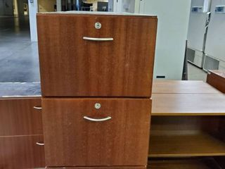 Wood 2 Drawer File Cabinet