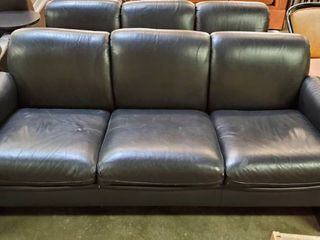6ft Black leather Couch